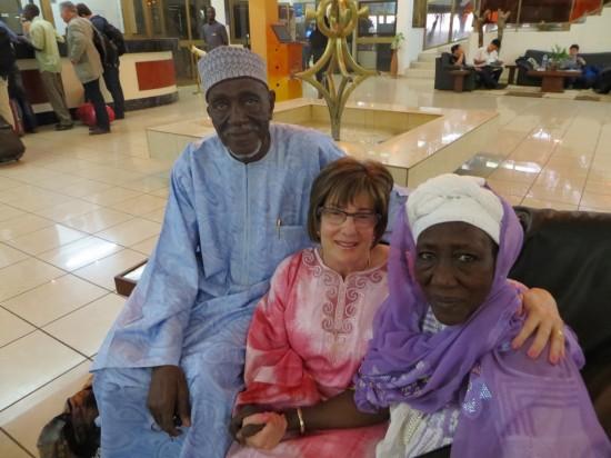 Amaadou Madougou and his wife Fati with Robin.