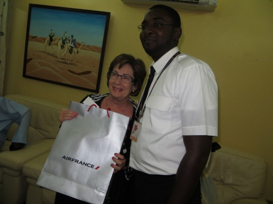 Robin is given prize by Air France in honour of International Women's Day!