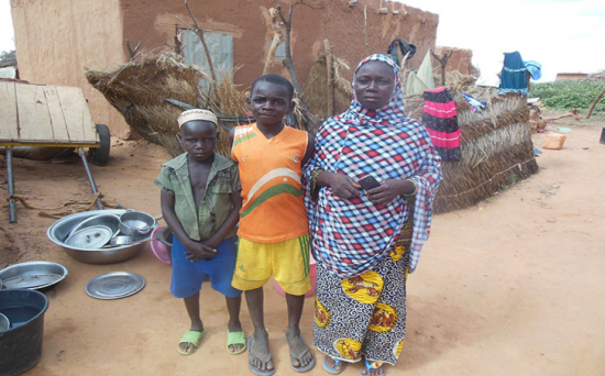 Madam Domo Oumarou of the Gonzare village at her house