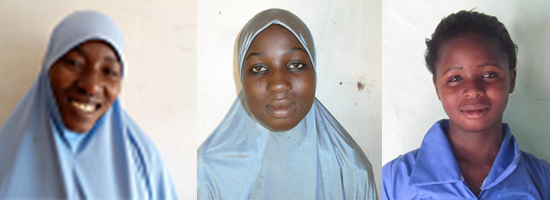 From left to right: Sarifatou Moussa Issaka, Madia Alzouma Adamou, and Sahadatou Alzouma Adamou